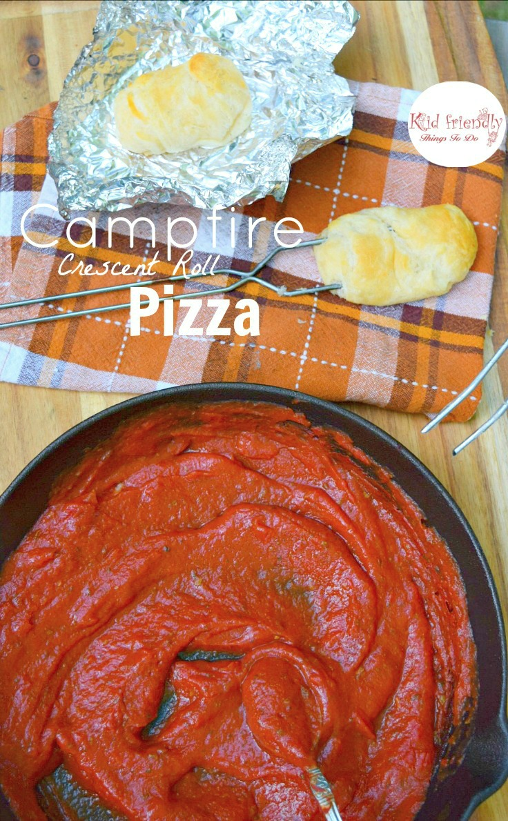 Campfire, Grill or Baked - whichever works for you, Crescent Roll Pizza Pockets - KidFriendlyThingsToDo.com