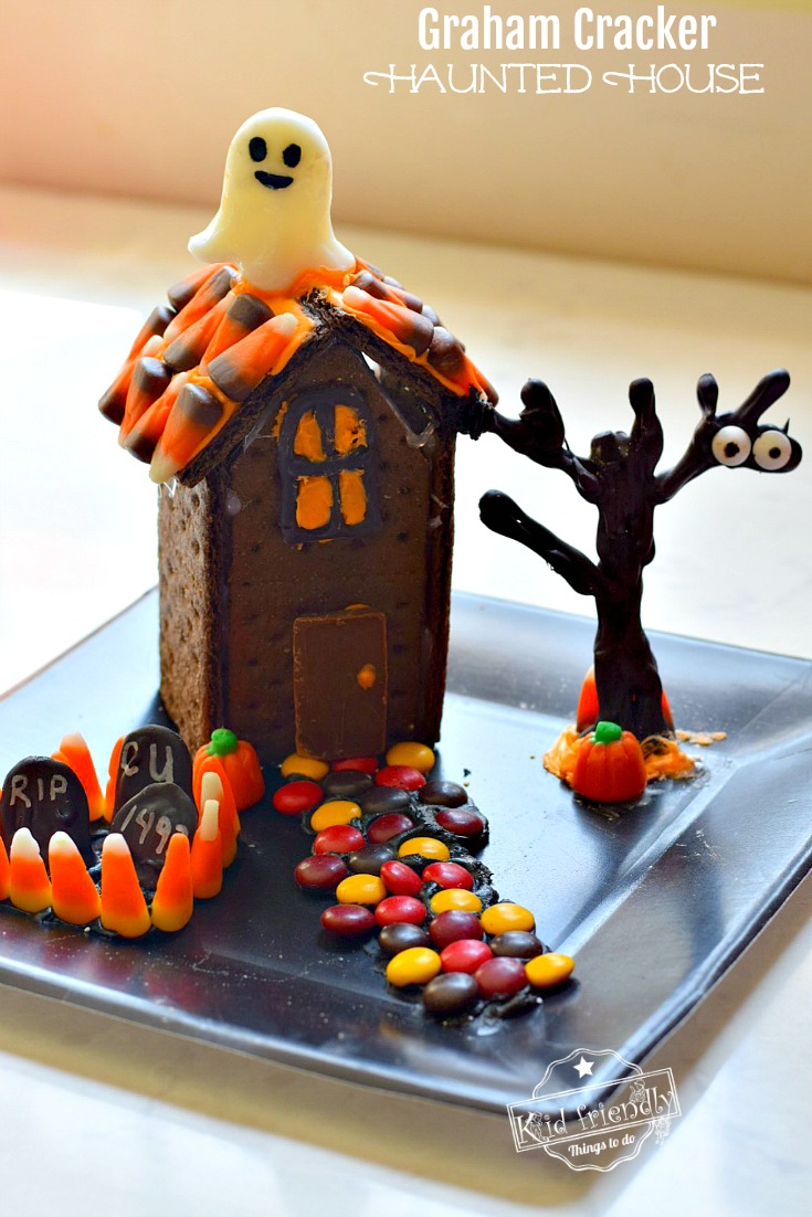 DIY Halloween Chocolate Graham Cracker House