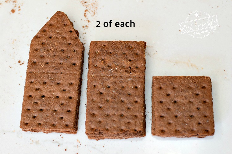 pieces of graham cracker needed to assemble graham cracker houses