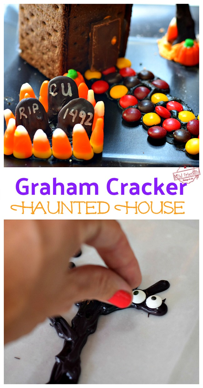 Fun Graham Cracker Candy Halloween House
