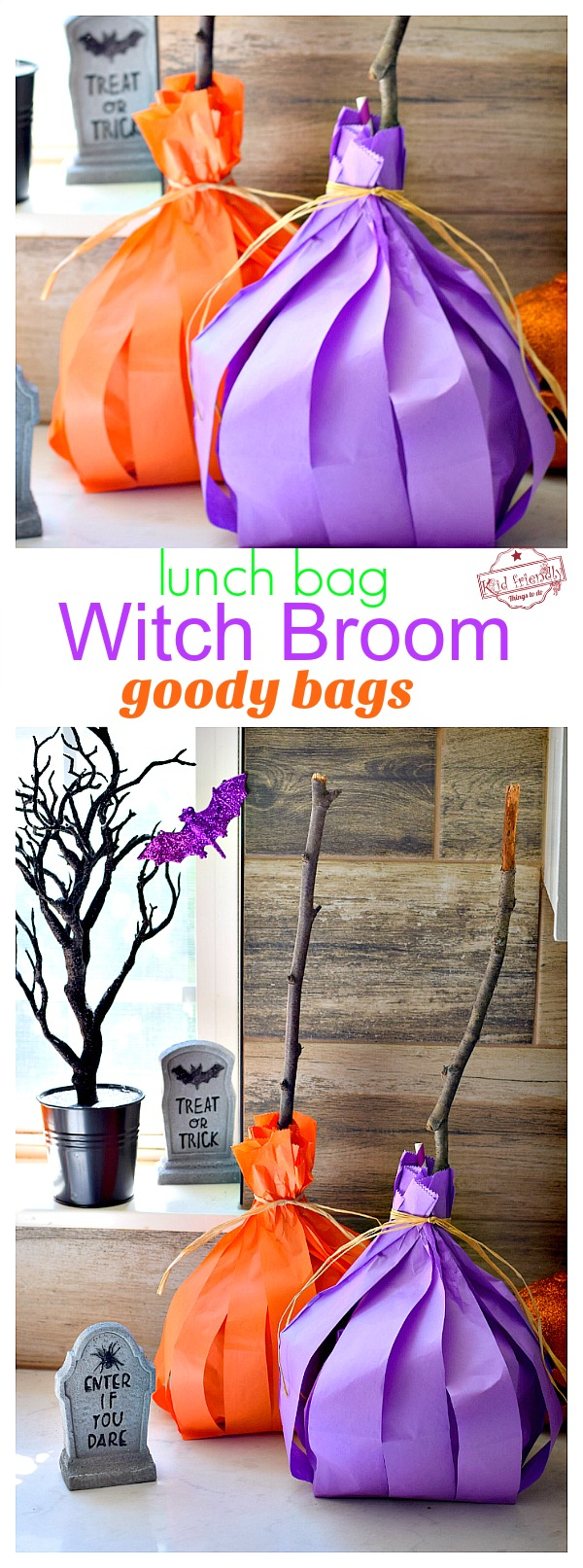 witch broom goody bag for halloween