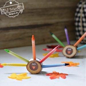 turkey crayon holder for kids