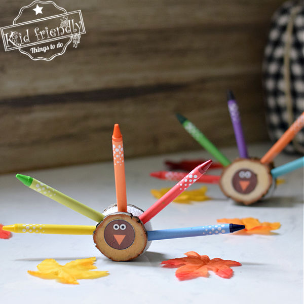 Turkey Crayon Holder {Easy to Make} Thanksgiving Craft