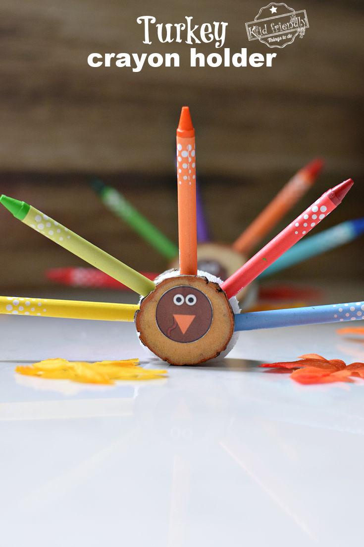 turkey crayon holder