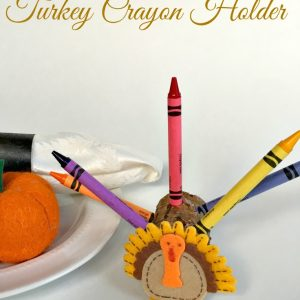 Turkey Crayon Holder. Cover the Thanksgiving table with easel paper, and let the kids color away using their fun turkey crayon holders! - KidFriendlyThingsToDo.com