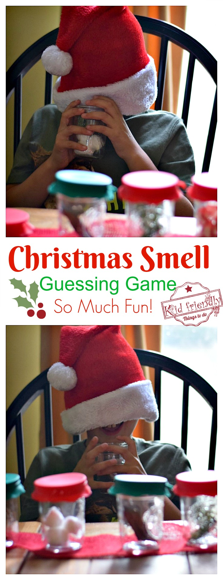 guess the smell christmas sensory game