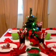 A Kid Friendly Christmas Table Cloth Idea