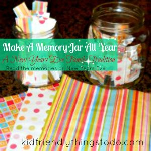 memory jar for New Year's Eve tradition