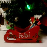 Personalized Sleigh Christmas Crayon Holder