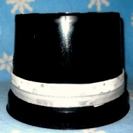 A Snowman Top Hat From A Recycled Flower Pot Idea