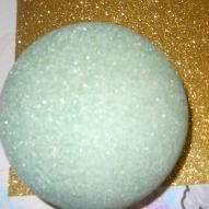 Green Styrofoam Ball