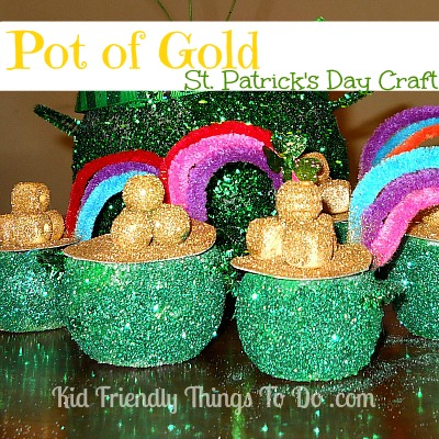 St. Patrick's Day Pot Of Gold & Rainbow Craft