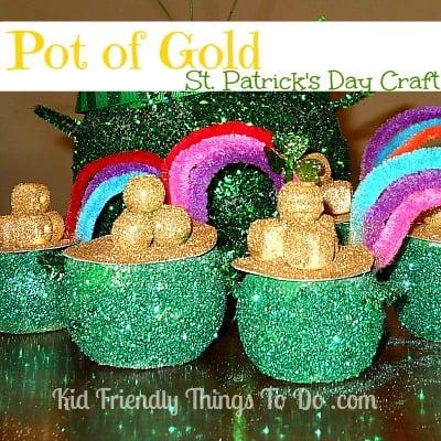 St. Patrick's Day Pot Of Gold & Rainbow Craft