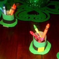 St. Patrick's Day crayon holder