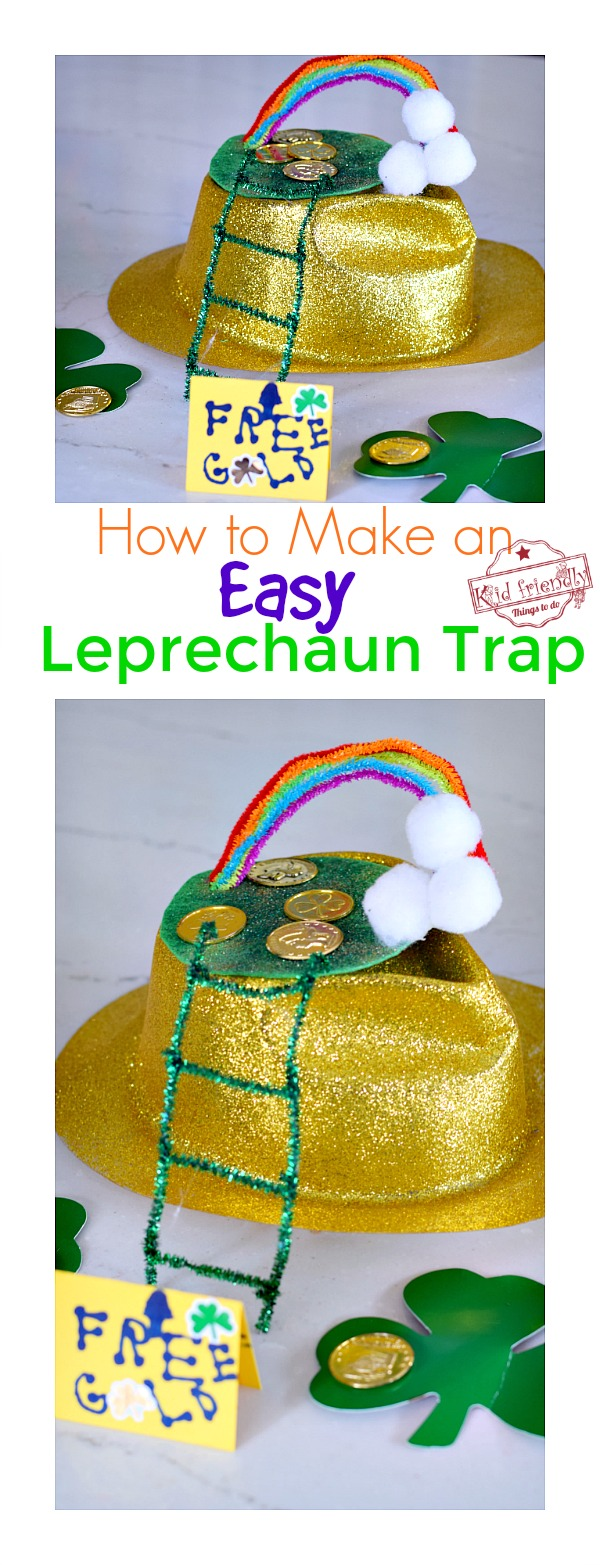 Leprechaun trap idea for kids to make