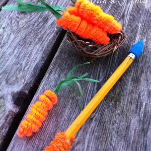 pipe cleaner carrots