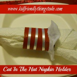cat in the hat napkin ring craft