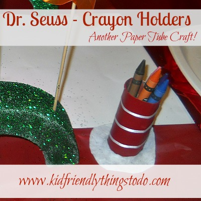 Cat In The Hat Craft (Paper Tube Crayon Holders)