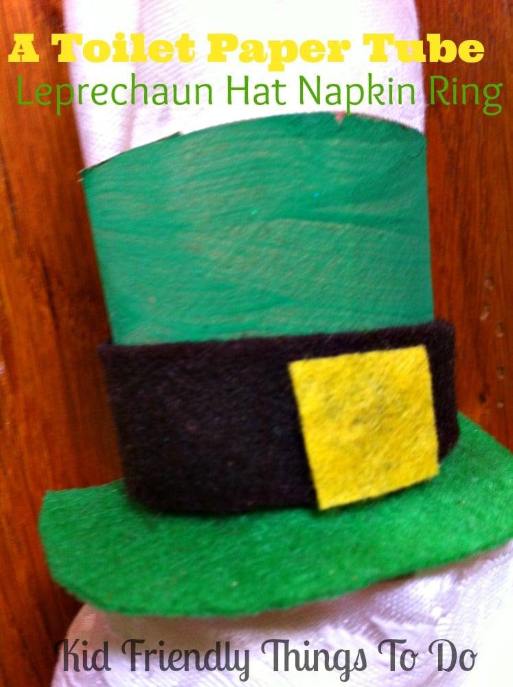 St. Patrick's Day toilet napkin ring paper tube craft