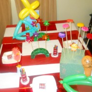 Dr. Seuss decorated table