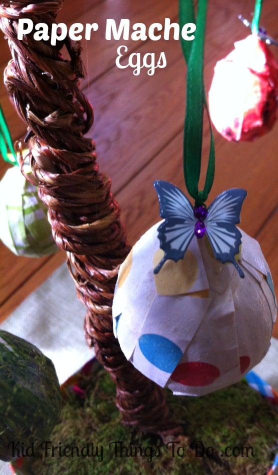Easter Paper Mache Egg Craft