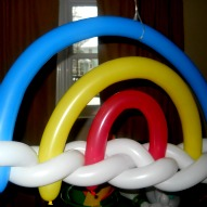 A Three Dimensional Rainbow Balloon Twisting Instructions – A Kid Friendly Thing To Do