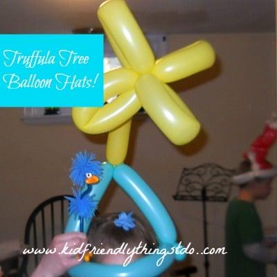 The Lorax Party Balloon Hats (A Fun Dr. Seuss Party Idea)