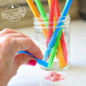 Homemade Pixie Sticks –  Kid Friendly Things To Do