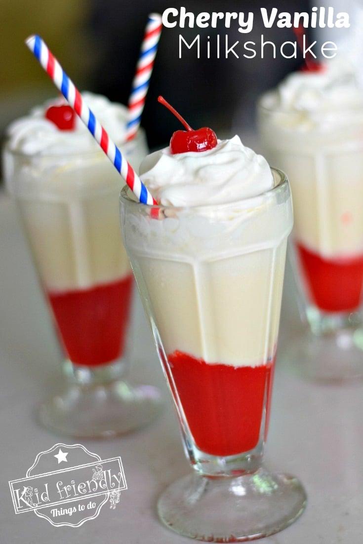 Delicious Cherry Vanilla Milkshakes