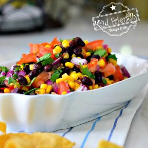 Easy Canned Corn and Black Bean Salsa