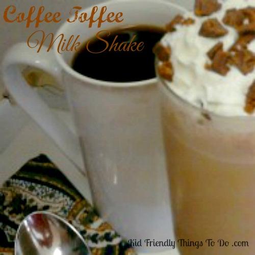Toffee Coffee Milk Shake