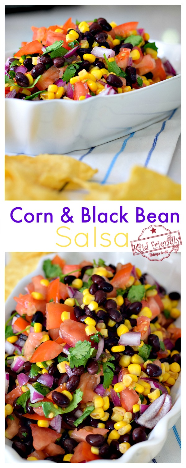 Canned corn and black bean salsa recipe