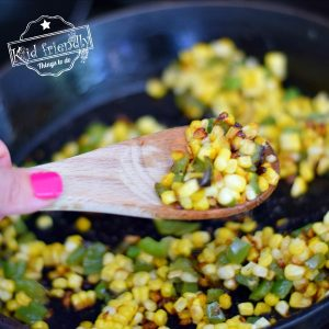 Sauteed Fresh Corn Recipe {with Green Pepper}  -Kid Friendly Things To Do