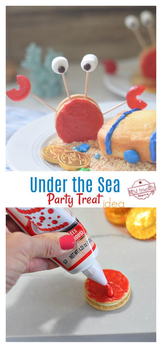 crab and treasure chest under the sea treat idea