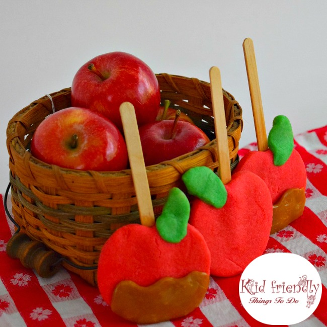 Caramel Apple Shaped Cookies
