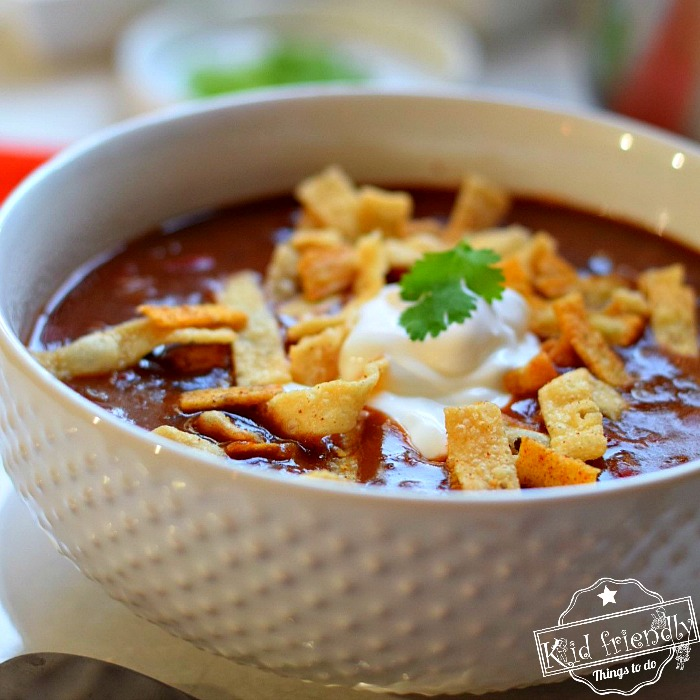 Easy Black Bean Soup Recipe | Kid Friendly Things To Do