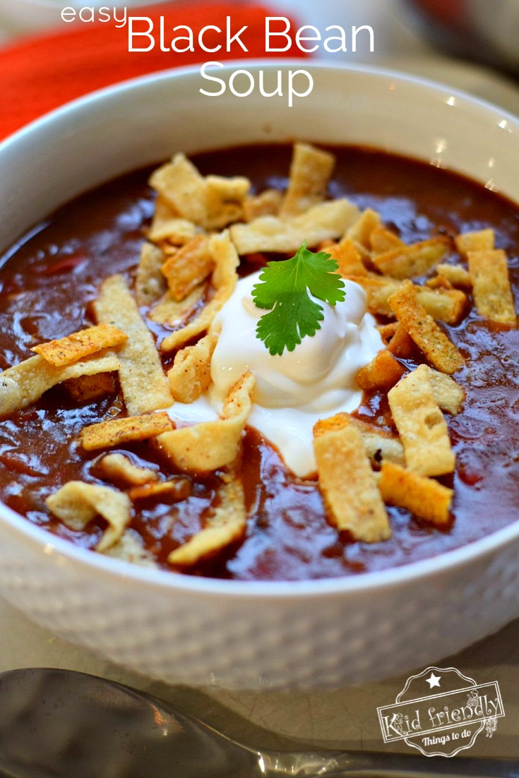 Canned black bean soup recipe