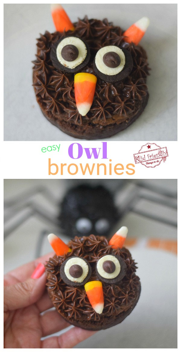 cute owl brownies