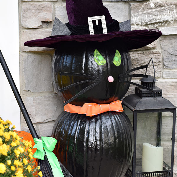 Make A Black Cat Pumpkin for Halloween | Kid Friendly Things To Do