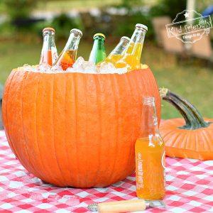 pumpkin ice bucket idea