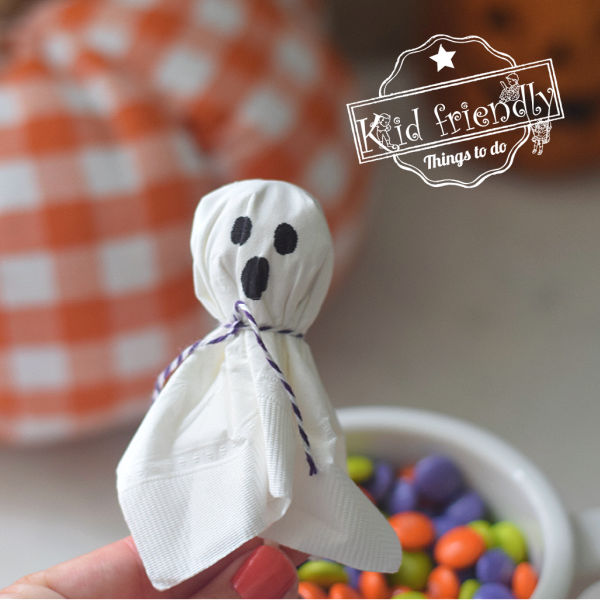 ghost lollipop craft with kids