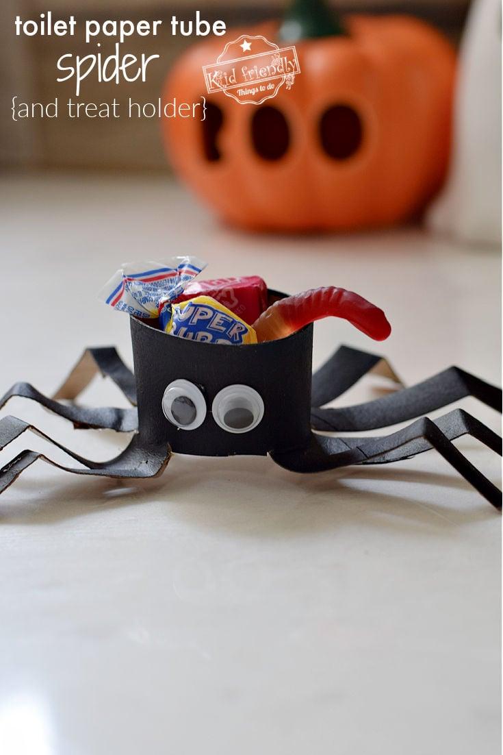 toilet paper tube spider craft
