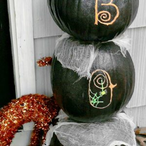 Glow In The Dark Boo Pumpkin Halloween Display - KidFriendlyThingsToDo.com