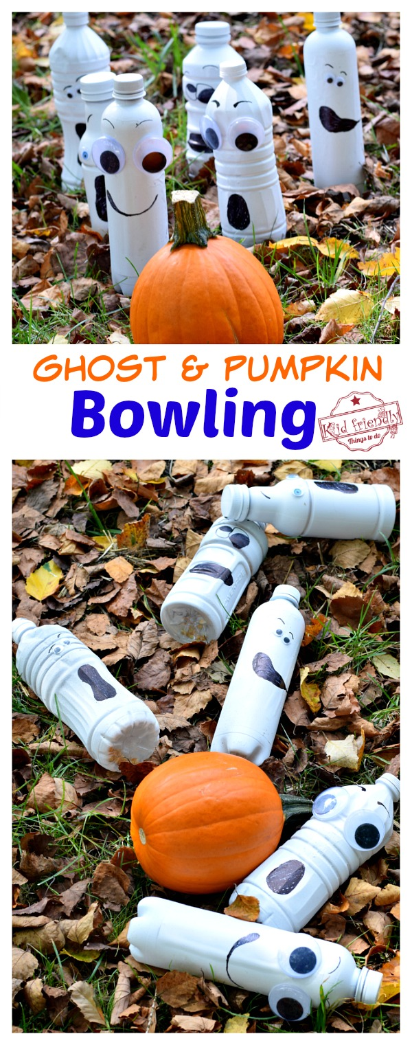 DIY pumpkin bowling game