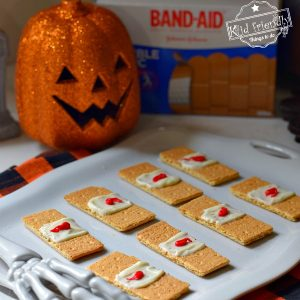 Graham Cracker Band-Aids Halloween Treat