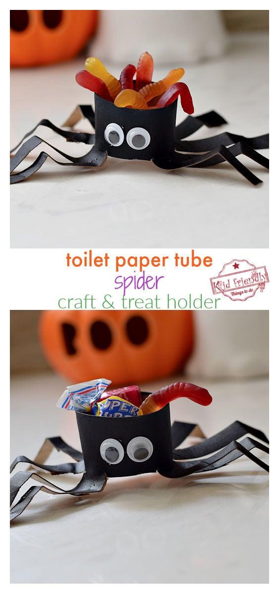 spider craft collage