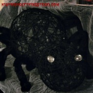 Make A Giant Spooky Spider – A Kid Friendly Thing To Do Craft
