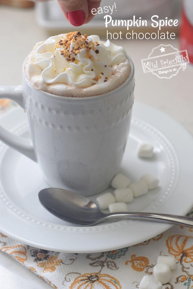 homemade pumpkin spice hot chocolate