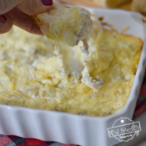 Warm Artichoke Dip with Cream Cheese and Parmesan