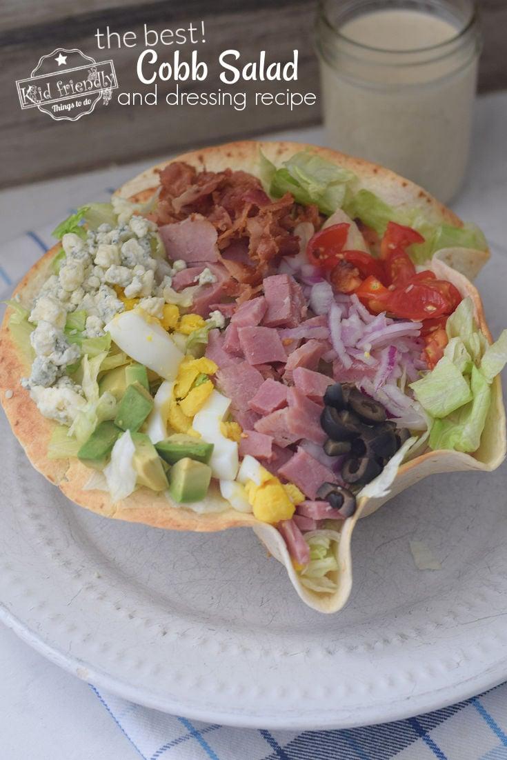 cobb salad with ham recipe